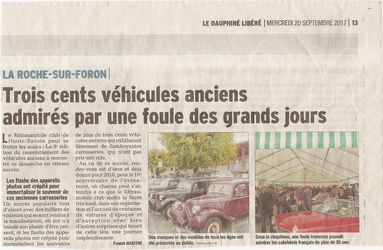 Compte rendu du rassemblement 2017 de vieilles voitures for Foire la roche sur foron 2017